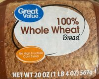 Great value, 100% whole wheat round top bread - Product - en