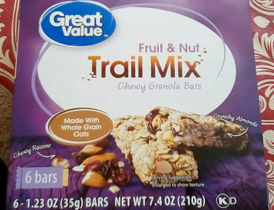 Trail Mix Chewy Granola Bars - Product