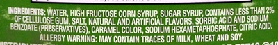 Reduced Calorie Syrup - Ingredients