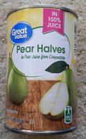 Pear Halves In 100% Juice - Produit - en