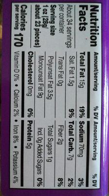 Cashews, almonds, pecans, pistachios, hazelnuts deluxe mixed nuts with sea salt, sea salt - Nutrition facts - en