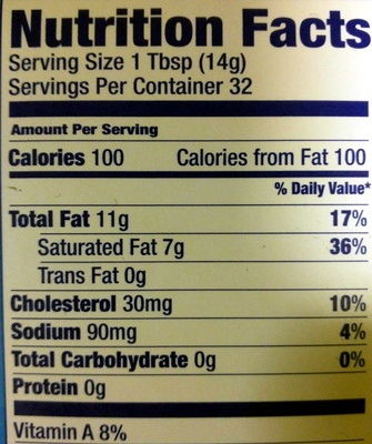 Salted Butter - Nutrition facts - en