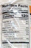 Organic traditional flour tortillas - Nutrition facts - en