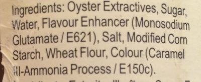 Premium Oyster Flavored Sauce - Ingredients - en