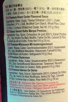 Premium Oyster Sauce - 成分 - en