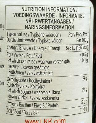 Premium Oyster Sauce - Nutrition facts - en