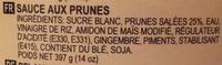 Plum sauce - Ingredients