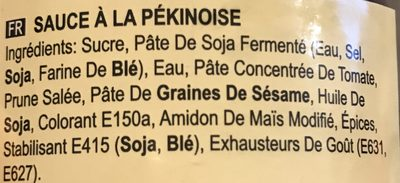 Peking duck sauce - Ingredients - fr