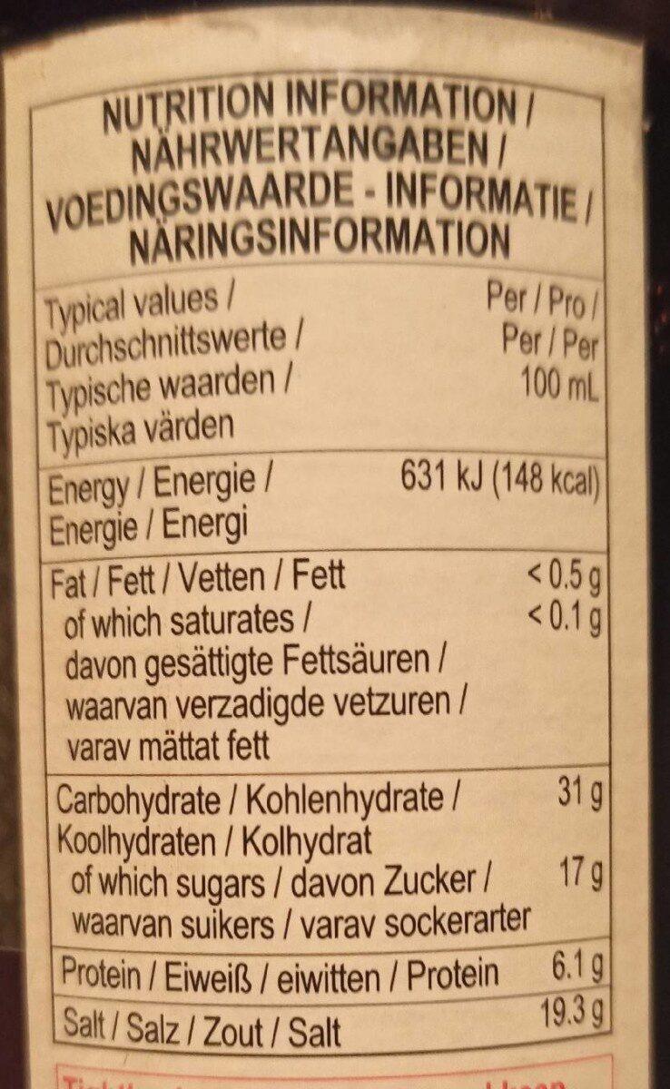 Premium dark soy sauce - Nutrition facts - de