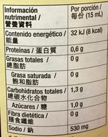 SALSA DE SOYA REDUCIDA EN SODIO - Nutrition facts