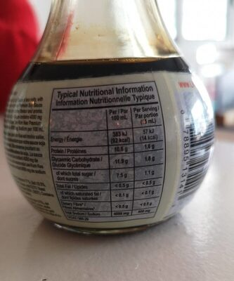 Lite soy sauce - Nutrition facts