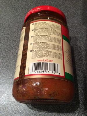 Spicy bean sauce - Ingrédients - fr