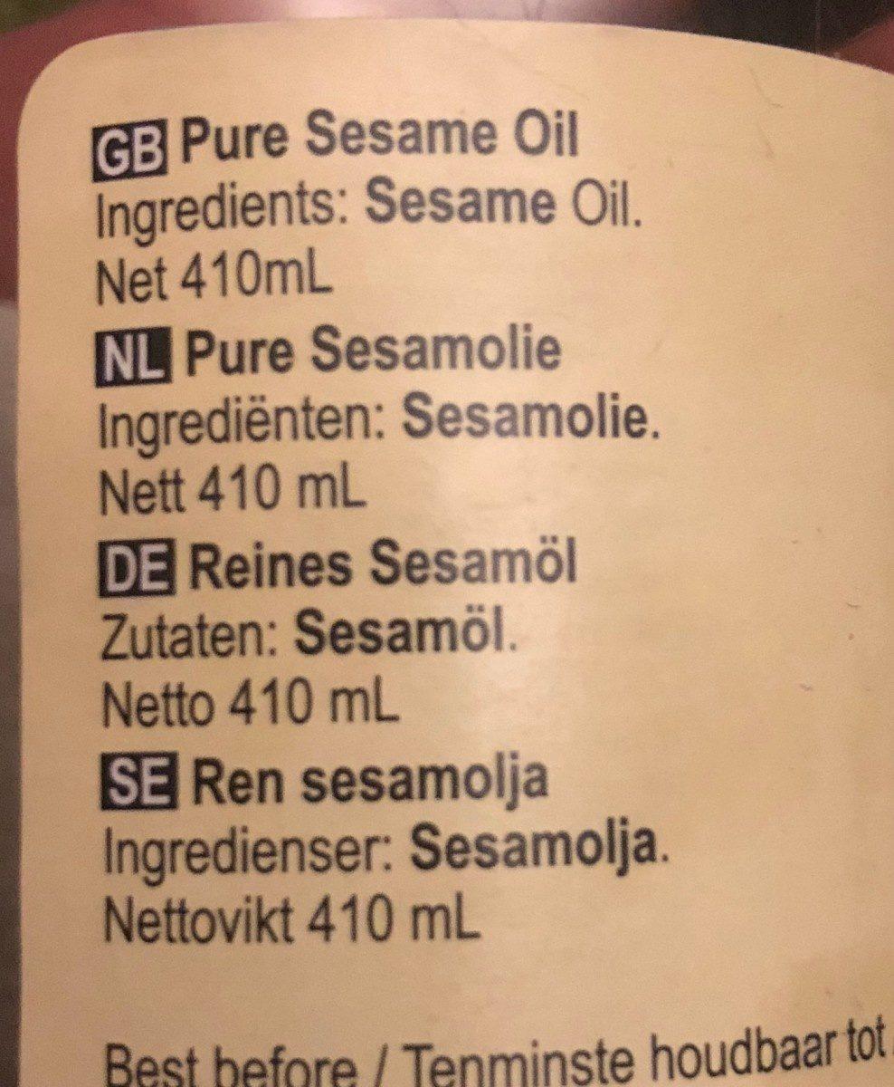 Huile de sesame - Ingredients - fr