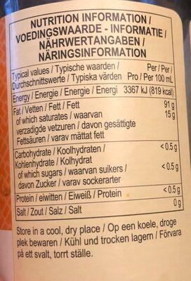 Huile de sesame - Nutrition facts - fr