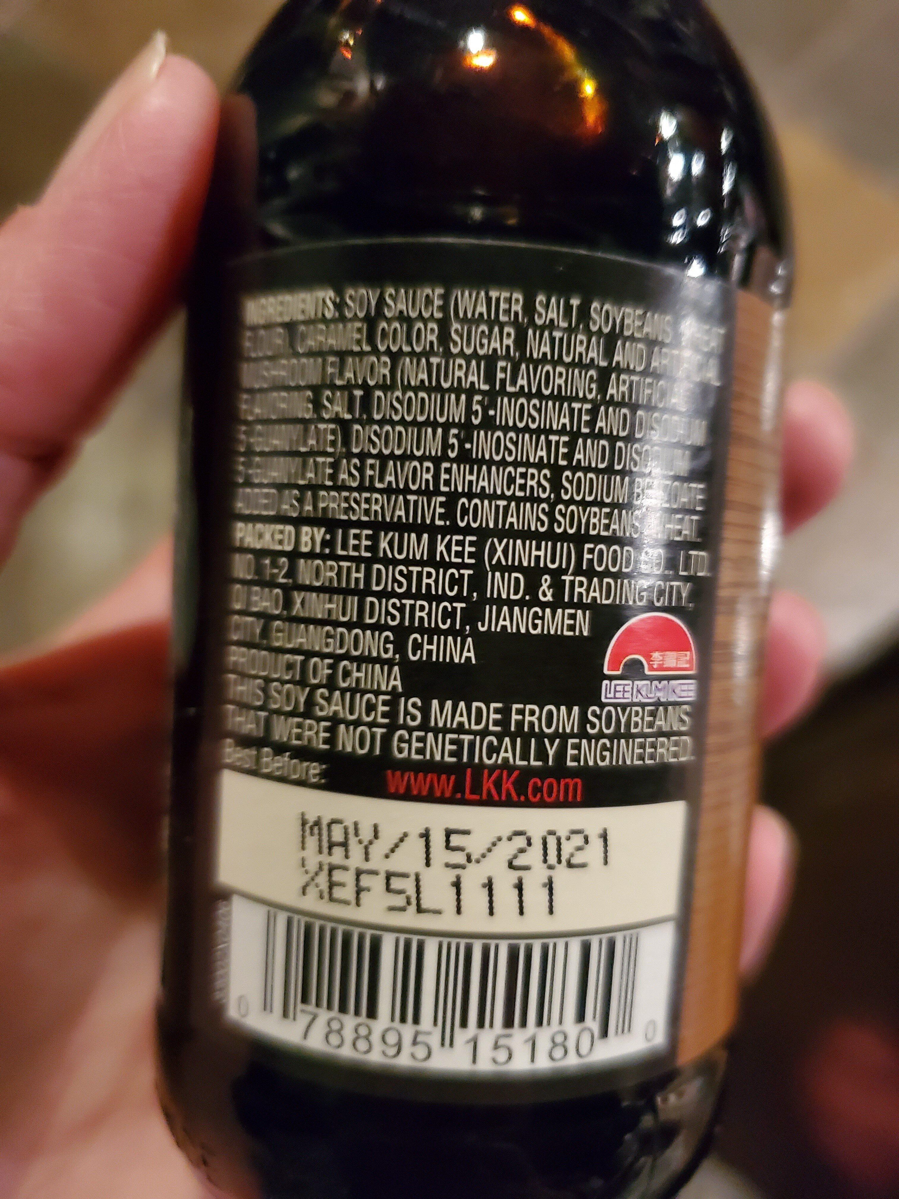Mushroom flavored dark soy sauce - Ingredients - en