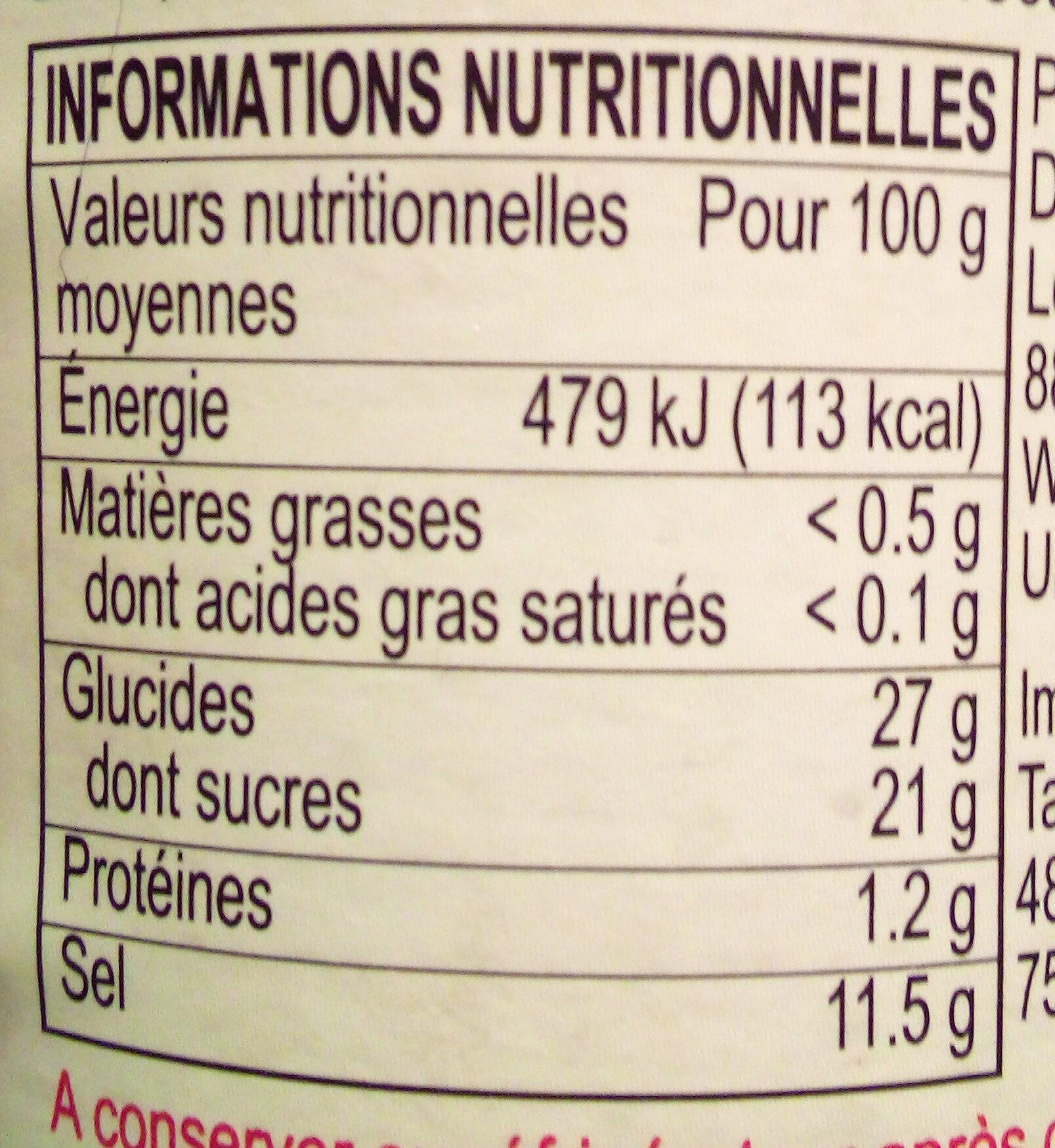 Panda brand oyster sauce - Informations nutritionnelles - fr