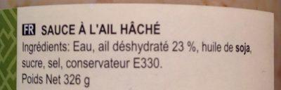 Minced Garlic - Ingredients - en