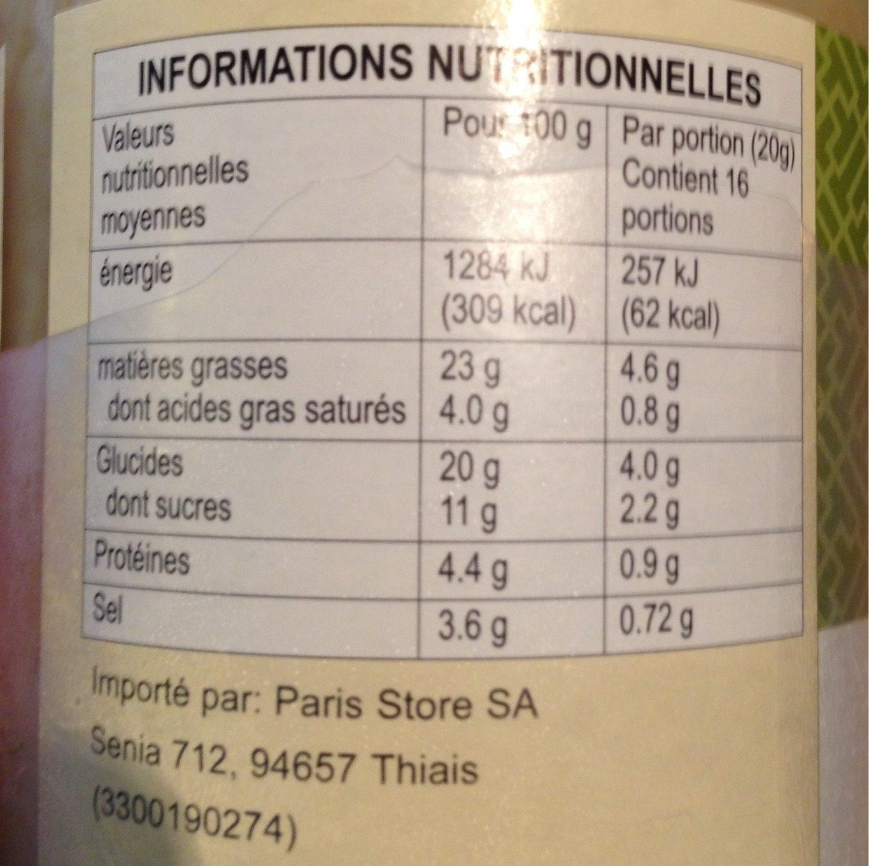 Minced Garlic - Nutrition facts - en
