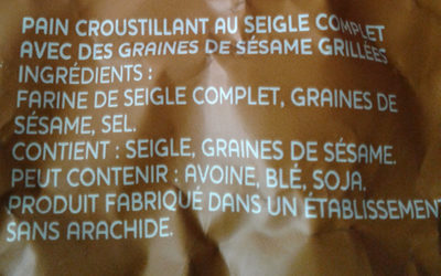 Ryvita, Pain Croustillant Seigle Au Sésame 250g - Product - fr