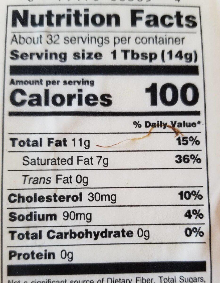Salted Butter - Valori nutrizionali - en