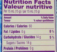 Nerds - Informations nutritionnelles - fr