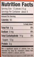Runts - Información nutricional
