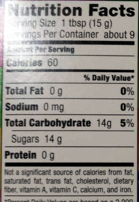 Rainbow Nerds - Nutrition facts