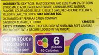 Gobstopper, candy - Ingredients - en