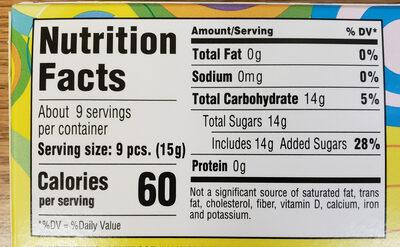 Gobstopper, candy - Nutrition facts - en
