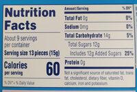 Wonka Sweet Tart - Nutrition facts - en