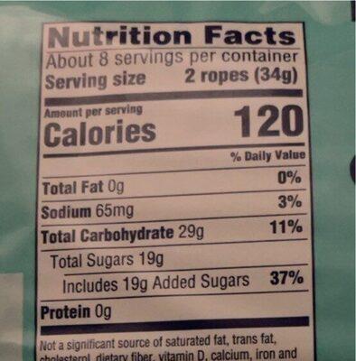 Sweet Tart Ropes - Nutrition facts - en