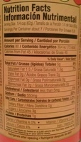 Cheddar cheese sauce - Nutrition facts - en