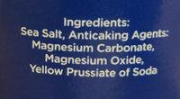 Sea salt fine crystals canister - Ingredients - en