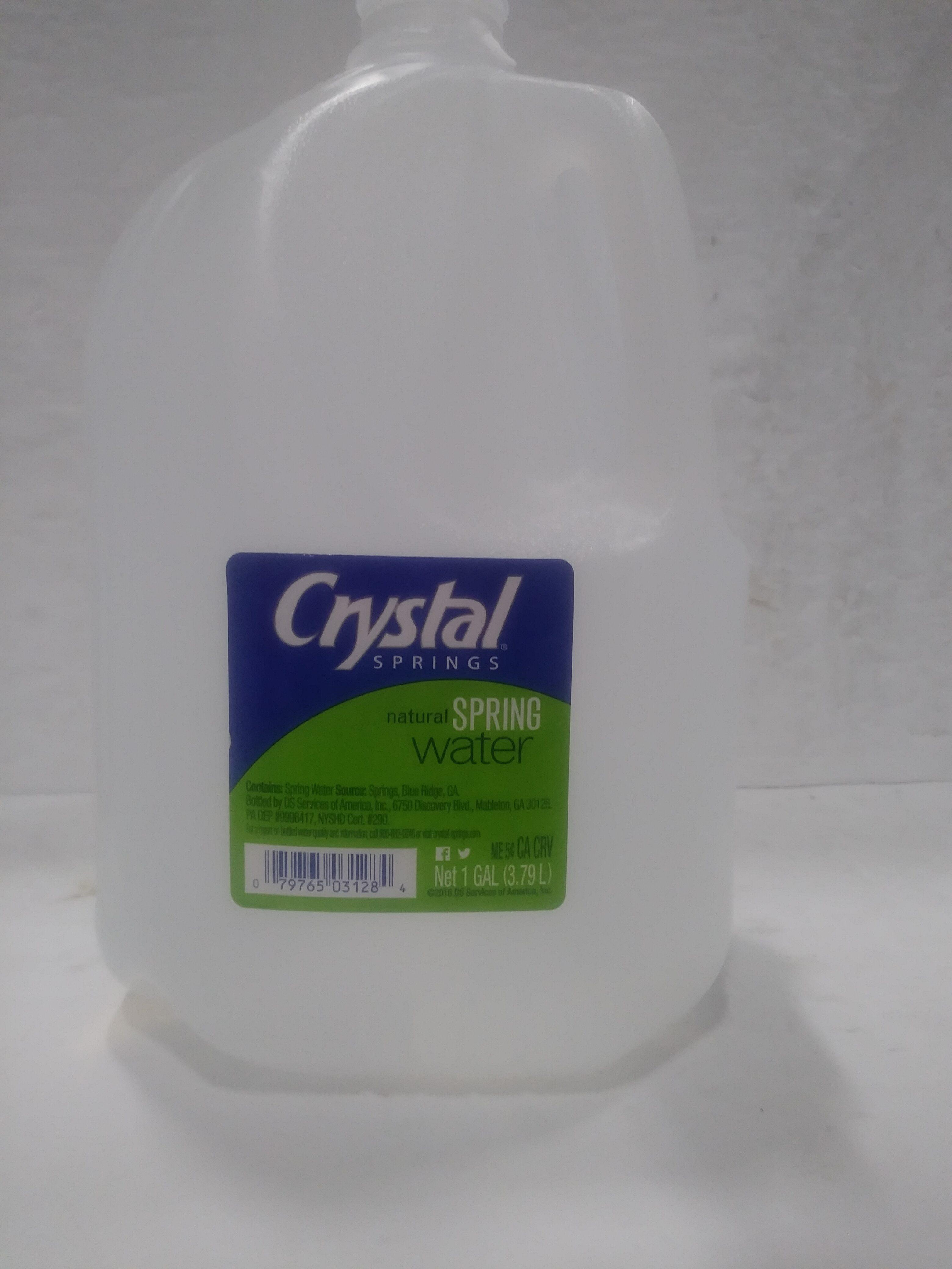 Natural spring water - Ingredienti - en