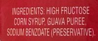 Guava Syrup - Ingredients - en