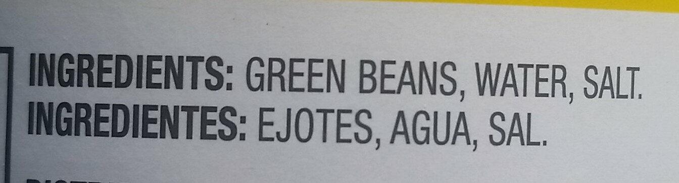 Short Cut Green Beans - Ingredients