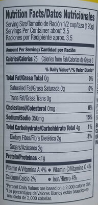 Better valu, short cut green beans - Nutrition facts - en