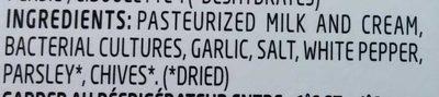Boursin Ail & Fines Herbes / Garlic & Fine Herbs - Ingredients