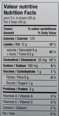 Boursin Ail & Fines Herbes / Garlic & Fine Herbs - Nutrition facts