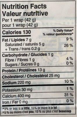 Wrap de fromage - Nutrition facts - fr
