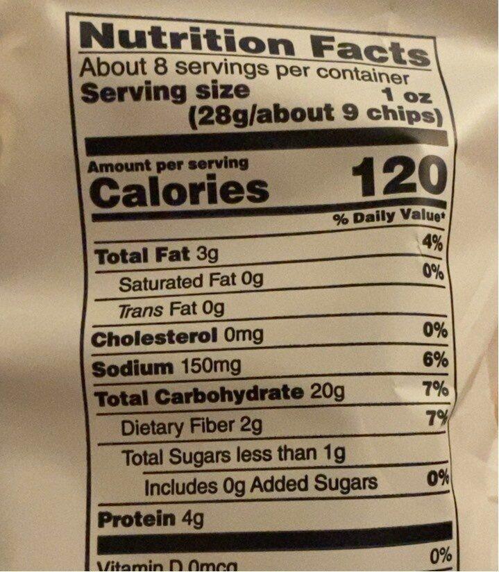 Pita chips - Nutrition facts - en