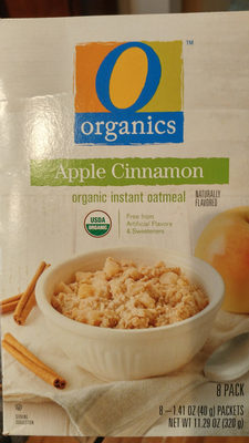 Apple cinnamon organic instant oatmeal - Product - en