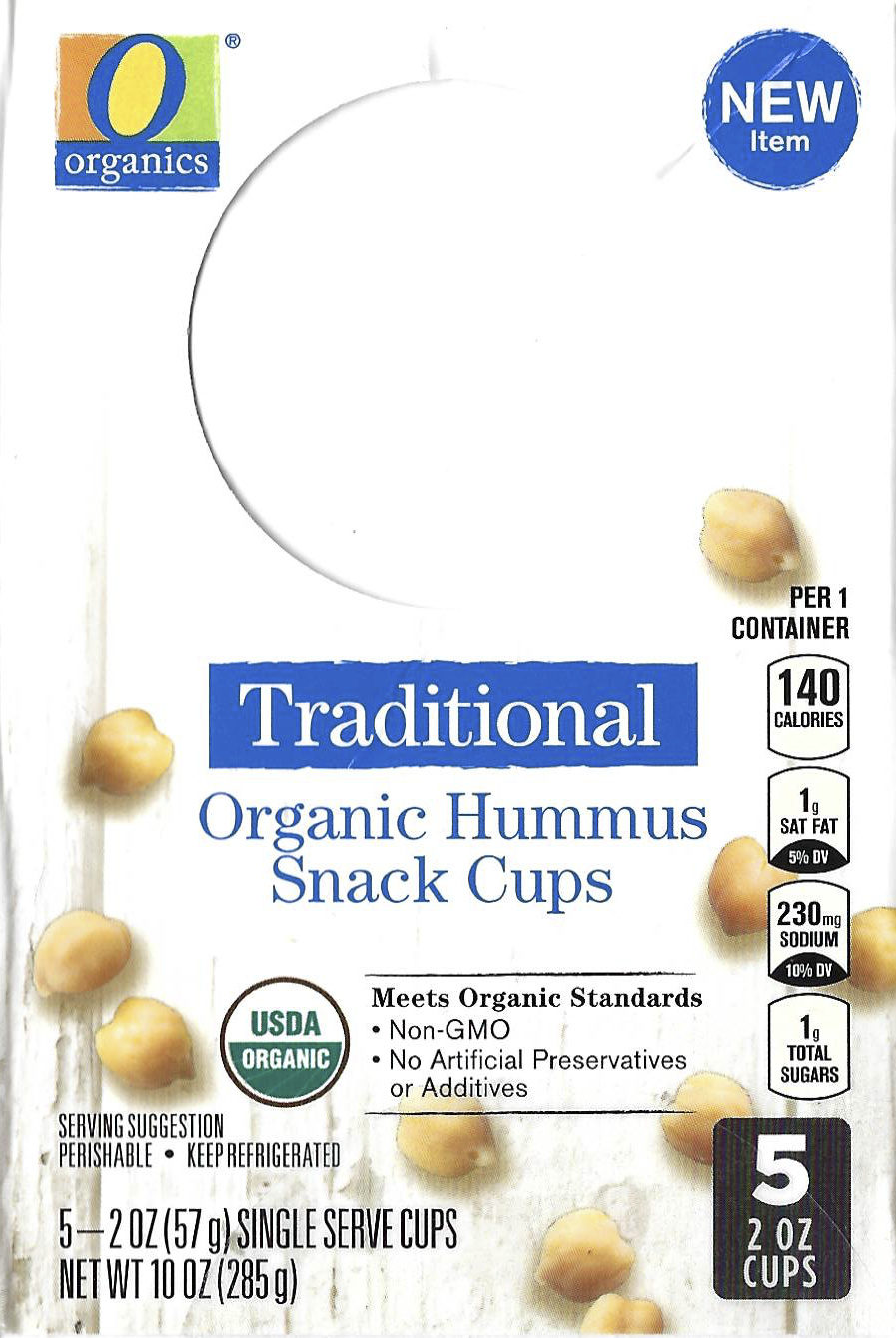 Traditional Organic Hummus Snack Cups - Product - en
