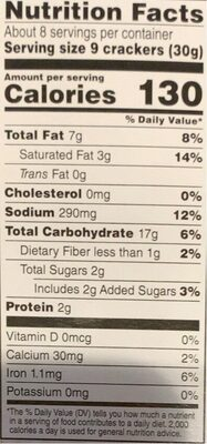 Classic round organic crackers - Nutrition facts - en