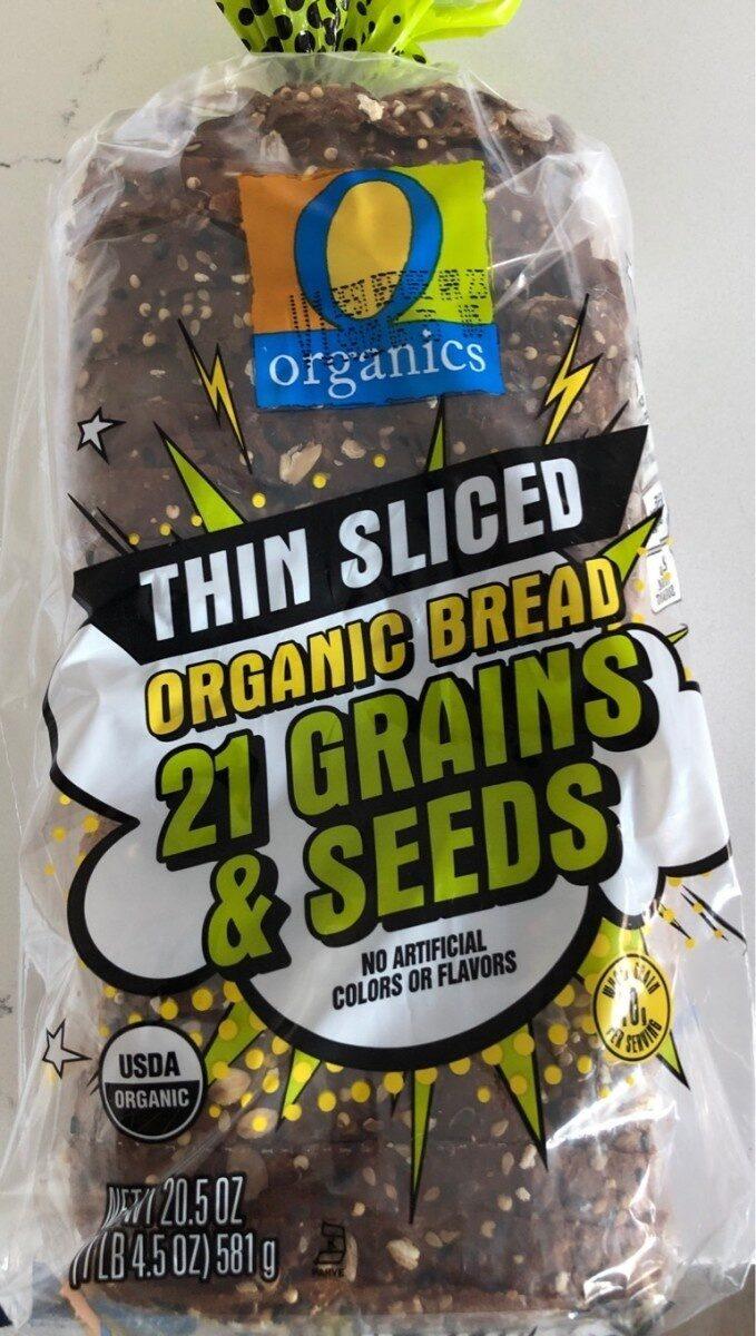 21 grains & seeds thin sliced organic bread, 21 grains & seeds - Product - en
