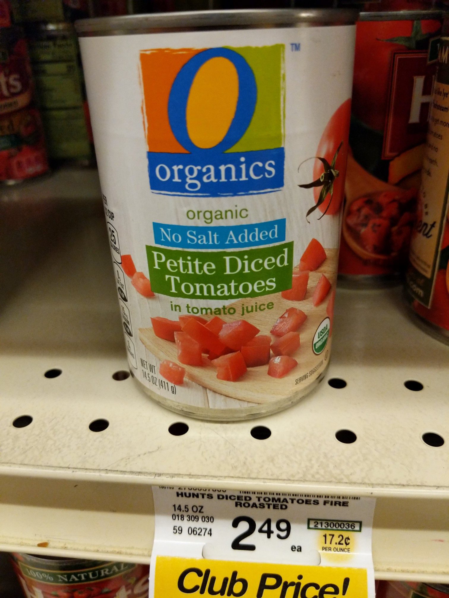 No Salt Added Petite Diced Tomatoes in tomato juice - Product - en