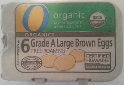 6 grade A large brown eggs - Product