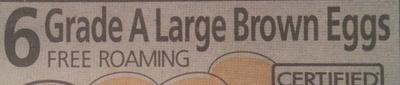 6 grade A large brown eggs - Ingrediënten