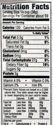 Whole Wheat Flour - Nutrition facts