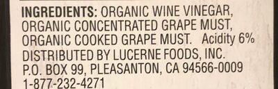 Organic balsamic vinegar of modena - Ingredients